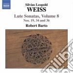Sonate per liuto (integrale) vol.8: sona cd musicale di Weiss silvius leopol