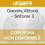 Sinfonia n.3, dedication overture, varia cd musicale di Vittorio Giannini