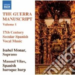 The guerra manuscript, vol.1 cd musicale di Miscellanee