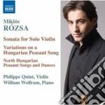 Miklos Rozsa - Musica Per Violino E Pianoforte cd musicale di Miklos Rozsa