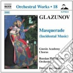 MASQUERADE (MUSICHE DI SCENA), 2 PEZZI    cd musicale di GLAZUNOV ALEXANDER K