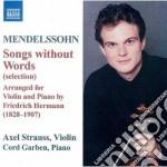 Lieder ohne worte. (arr.f.hermann for vi cd musicale di Felix Mendelssohn