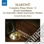 Opere per pianoforte (integrale) vol.4 cd musicale di Bohuslav Martinu