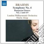 Sinfonia n.4, danze ungheresi (nn.2, 4-9 cd musicale di Johannes Brahms