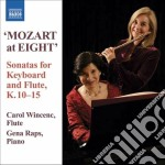 Mozart at eight. sonata for keyboard and cd musicale