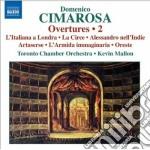 Cimarosa Domenico - Overtures, Vol.2 cd musicale di Domenico Cimarosa
