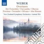 Overtures cd musicale di Weber carl maria von