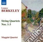 Quartetto per archi n.1 op.6, n.2 op.15, cd musicale di Lennox Berkeley
