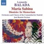 Maria sabina, dionisio - in memoriam cd musicale di Leonardo Balada