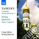 Quartetto per archi n.1, n.3 cd musicale di Taneyev sergey ivani