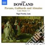 Opere per liuto (integrale), vol.3: pava cd musicale di John Dowland