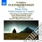 Piano trios, violin sonata cd musicale di Sveinbjor Sveinbjorn