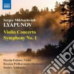 Concerto per violino, sinfonia n.1 cd musicale di Lyapunov sergey mikh