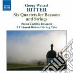 Quertetti per fagotto e archi op.1 (nn.1 cd musicale di Ritter georg wenzel