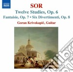 Sor Fernando - 12 Studi Op.6, Fantasia N.2, Op.7, 6 Divertimenti Op.8 cd musicale di Fernando Sor