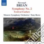 Sinfonia n.2, festival fanfare cd musicale di Havergal Brian