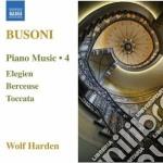 Opere per pianoforte (integrale), vol.4 cd musicale di Ferruccio Busoni
