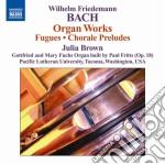 Opere per organo cd musicale di Bach wilhelm friedma
