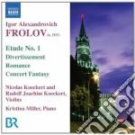 Opere per violino e pianoforte cd musicale di Igor Frolov