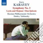 Sinfonia n.3, don kikhot, leyli i mejnun cd musicale di Kara Karayev