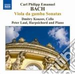 Sonate per viola da gamba: wq 88, 136, 1 cd musicale di Bach carl philip ema