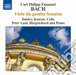 Bach Carl Philipp Emanuel - Sonate Per Viola Da Gamba: Wq 88, 136, 137 cd musicale di Bach carl philip ema