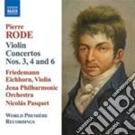 Concerto per violino nn.3 op.5, n.4 op.6 cd musicale di Pierre Rode