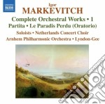Musica per orchestra (integrale), vol.1 cd musicale di Igor Markevitch