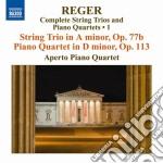 Trii per archi e quartetti con pianofort cd musicale di Max Reger