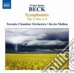 Beck Franz Ignaz - Sinfonie Nn.1-4 Op.3 cd musicale di Beck franz ignaz