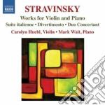 Opere per violino e pianoforte cd musicale di Igor Stravinsky