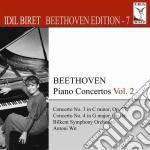 Concerti per piano vol.2 nn.3 e 4 - bire cd musicale di Beethoven ludwig van
