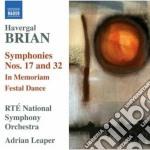 Sinfonia n.17, n.32, in memoriam, festal cd musicale di Havergal Brian