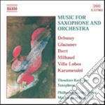 Music for saxophone and orchestra cd musicale