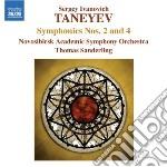Sinfonia n.2, n.4 op.12 cd musicale di Taneyev sergey ivani