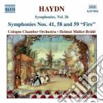 Symphonies nos.41 58 & 59 cd musicale di HAYDN