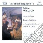 English songs cd musicale di William Walton