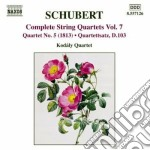 Quartetti per archi (integrale), vol.7 cd musicale di Franz Schubert