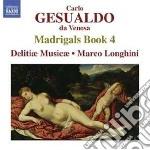 Quarto libro di madrigali cd musicale di Gesualdo carlo princ