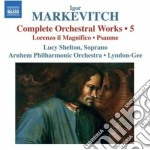 Musica per orchestra (integrale), vol.5: cd musicale di Igor Markevitch