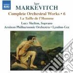 MUSICA PER ORCHESTRA VOL.6                cd musicale di Igor Markevitch