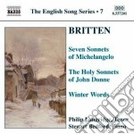 The english song series 7 cd musicale di BRITTEN
