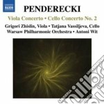 Concerto per viola, concerto per violonc cd musicale di Krzysztof Penderecki