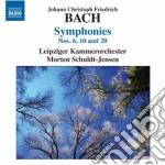 Sinfonie nn.6, 10 e 20 cd musicale di Bach johann chistoph