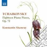 18 pezzi per pianoforte op.72 cd musicale di Ciaikovski pyotr il'