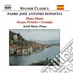 Opere per pianoforte cd musicale di Donostia antonio jos