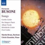 Busoni Ferruccio - Liriche cd musicale di Ferruccio Busoni