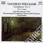 Vaughan Williams Ralph - Sinfonia N.4, Flos Campi, Norfolk Rhapsody N.1 cd musicale di Vaughan williams ral