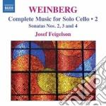 Musica per violoncello solo, vol.2 cd musicale di Mieczyslaw Weinberg