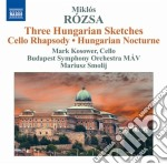 Rozsa Miklos - Notturno Ungherese Op.28, 3 Hungarian Sketches Op.14 cd musicale di Miklos Rozsa